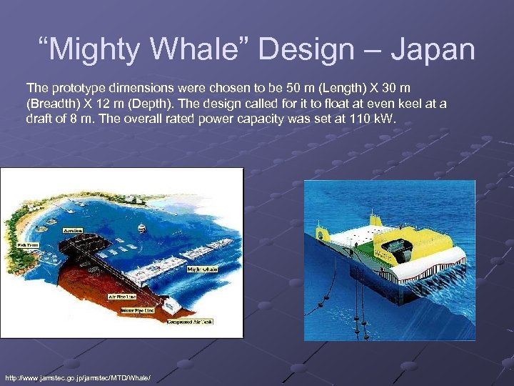 """""""Mighty Whale"""" Design – Japan The prototype dimensions were chosen to be 50 m"""