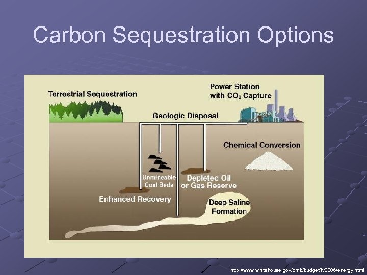 Carbon Sequestration Options http: //www. whitehouse. gov/omb/budget/fy 2006/energy. html