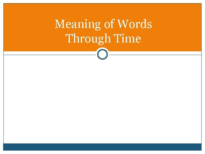 Meaning of Words Through Time