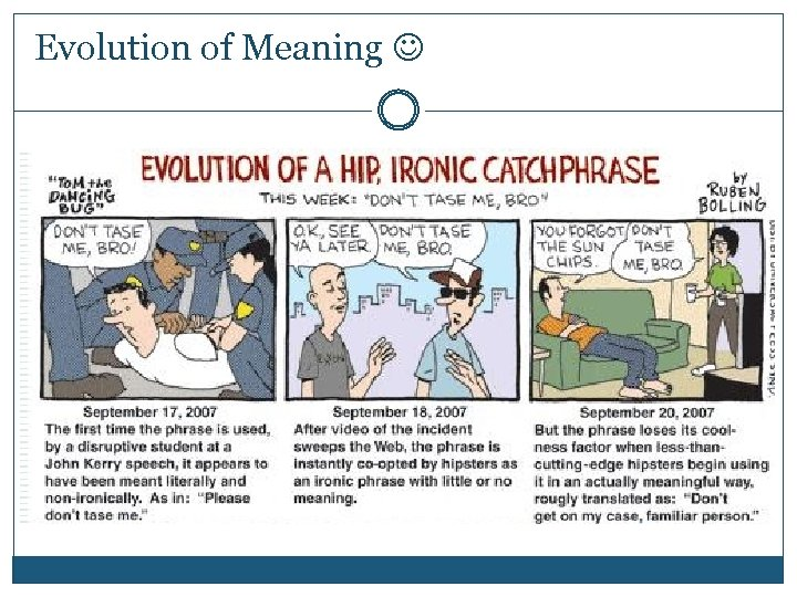 Evolution of Meaning