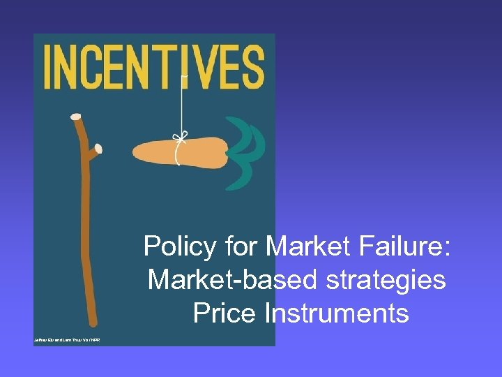 Policy for Market Failure: Market-based strategies Price Instruments Jeffrey Ely and Lam Thuy Vo