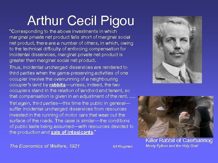 "Arthur Cecil Pigou ""Corresponding to the above investments in which marginal private net product"