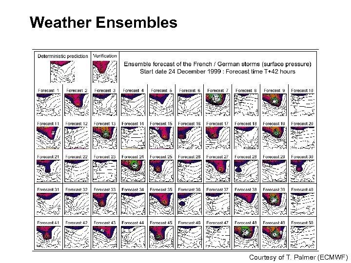 Weather Ensembles Courtesy of T. Palmer (ECMWF)