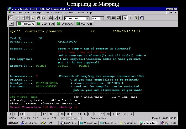 Compiling & Mapping SQA 130 COMPILATION / MAPPING Task(1). . . . DB-env. .