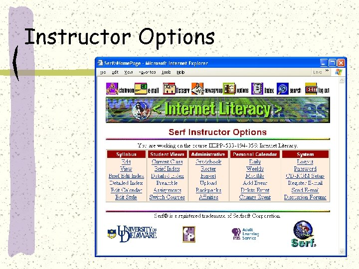 Instructor Options