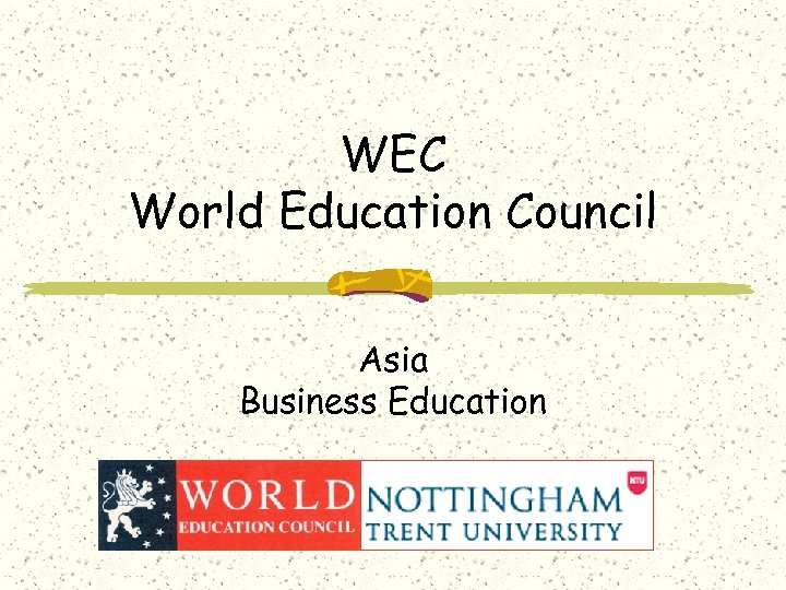 WEC World Education Council Asia Business Education