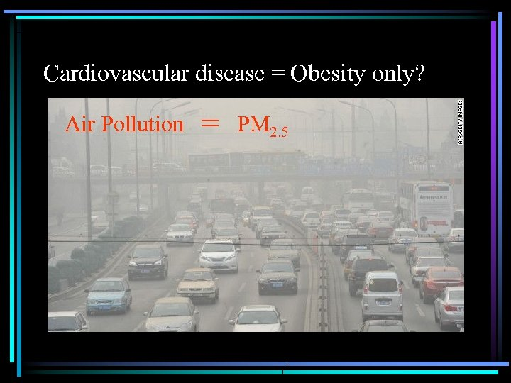 Cardiovascular disease = Obesity only? Air Pollution = PM 2. 5