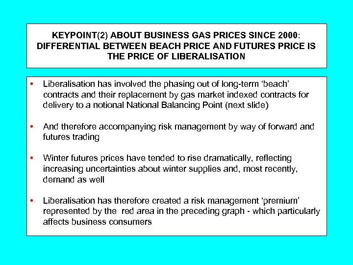 KEYPOINT(2) ABOUT BUSINESS GAS PRICES SINCE 2000: DIFFERENTIAL BETWEEN BEACH PRICE AND FUTURES PRICE