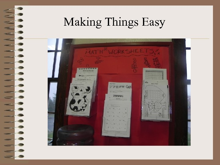 Making Things Easy