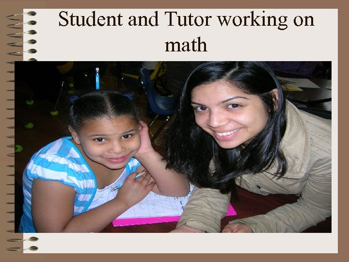Student and Tutor working on math