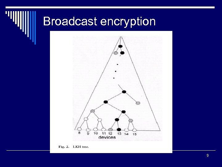 Broadcast encryption 9