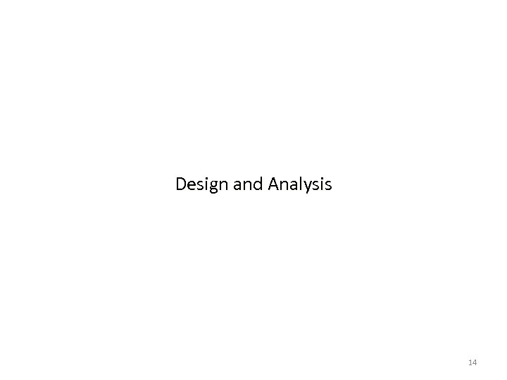 Design and Analysis 14