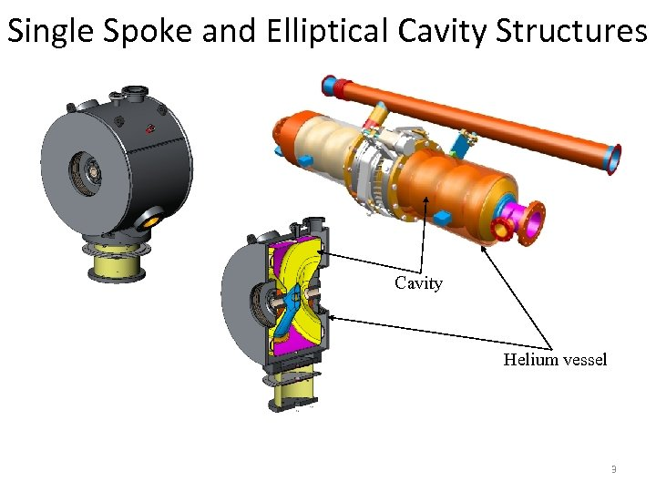 Single Spoke and Elliptical Cavity Structures Cavity Helium vessel 3
