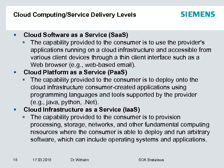 Cloud Computing/Service Delivery Levels § Cloud Software as a Service (Saa. S) § The