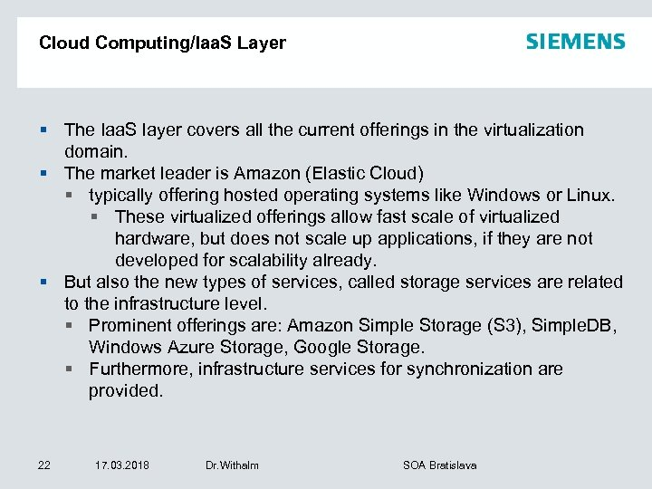 Cloud Computing/Iaa. S Layer § The Iaa. S layer covers all the current offerings
