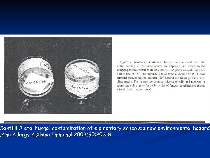 Santilli J etal. Fungal contamination of elementary schools: a new environmental hazard. Ann Allergy