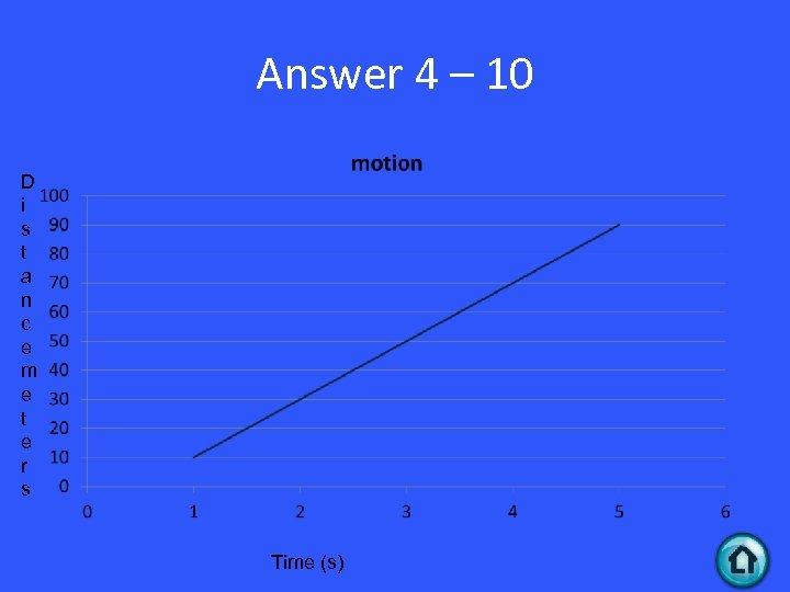 Answer 4 – 10 D i s t a n c e m e