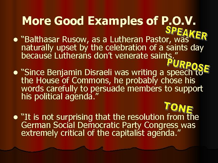 "More Good Examples of P. O. V. l ""Balthasar Rusow, as a Lutheran Pastor,"