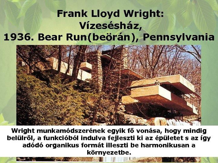 Organikus építészet ppt