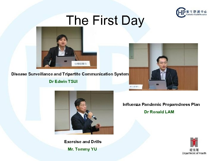 The First Day Disease Surveillance and Tripartite Communication System Dr Edwin TSUI Influenza Pandemic