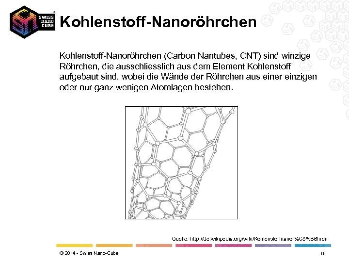 Kohlenstoff-Nanoröhrchen (Carbon Nantubes, CNT) sind winzige Röhrchen, die ausschliesslich aus dem Element Kohlenstoff aufgebaut