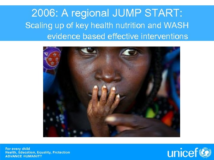 2006: A regional JUMP START: World Press Photo 2005 Scaling up of key health