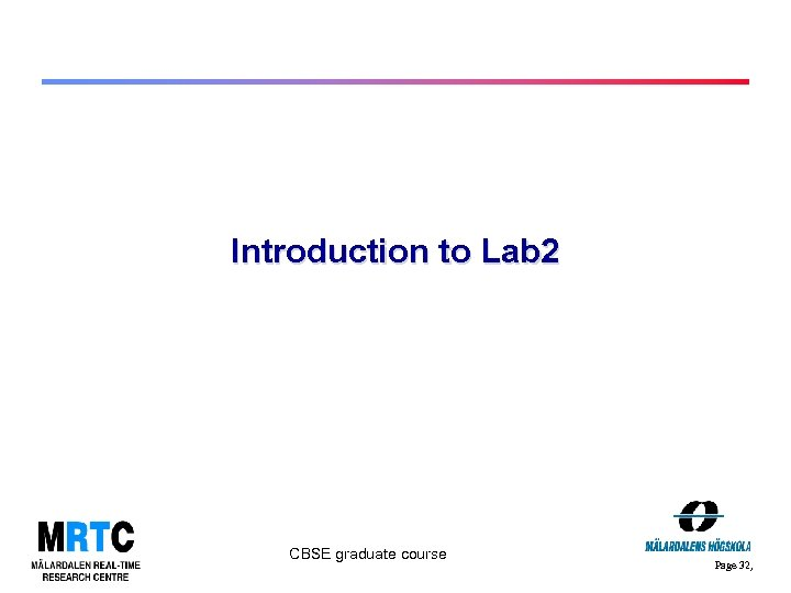 Introduction to Lab 2 CBSE graduate course Page 32,