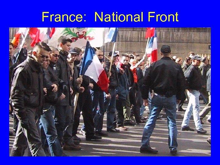 France: National Front