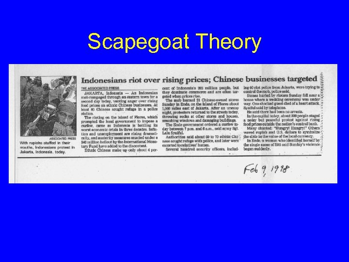 Scapegoat Theory