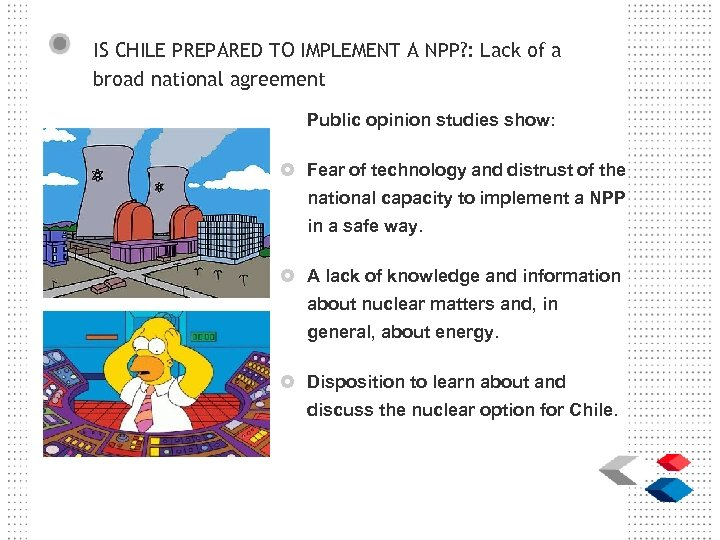 IS CHILE PREPARED TO IMPLEMENT A NPP? : Lack of a broad national agreement