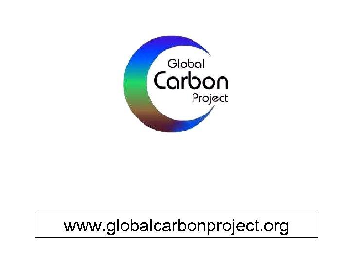 www. globalcarbonproject. org