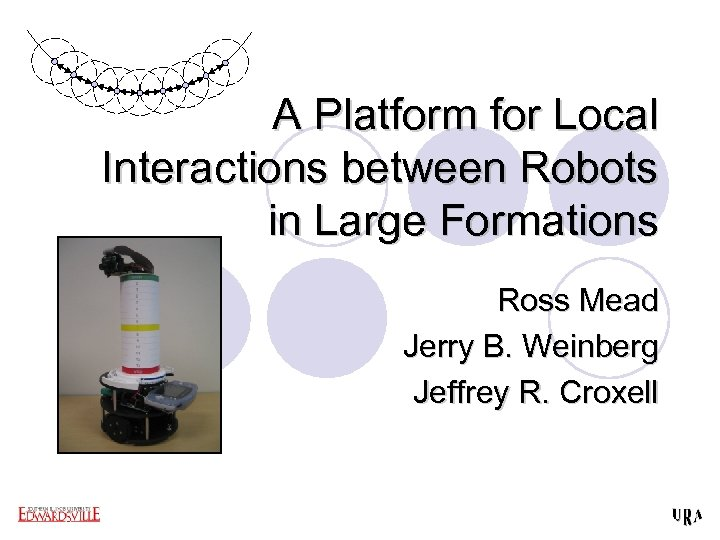 A Platform for Local Interactions between Robots in Large Formations Ross Mead Jerry B.