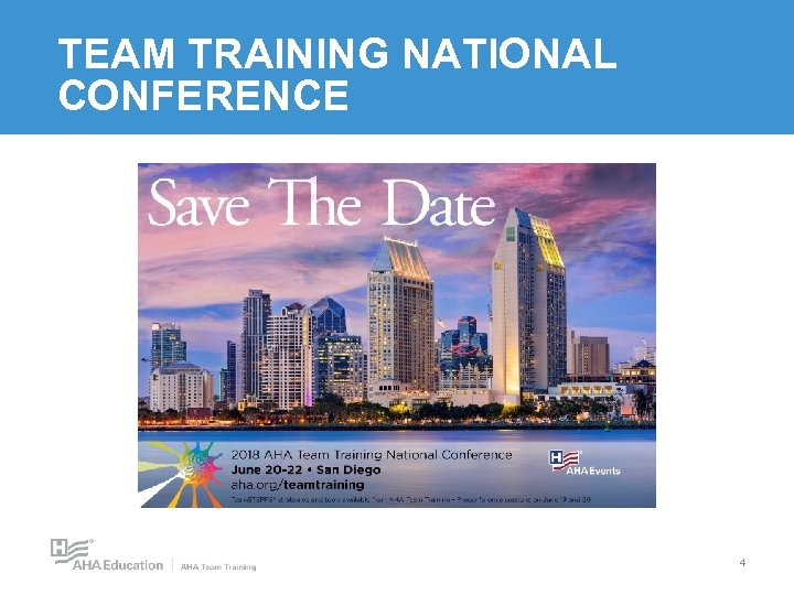 TEAM TRAINING NATIONAL CONFERENCE 4