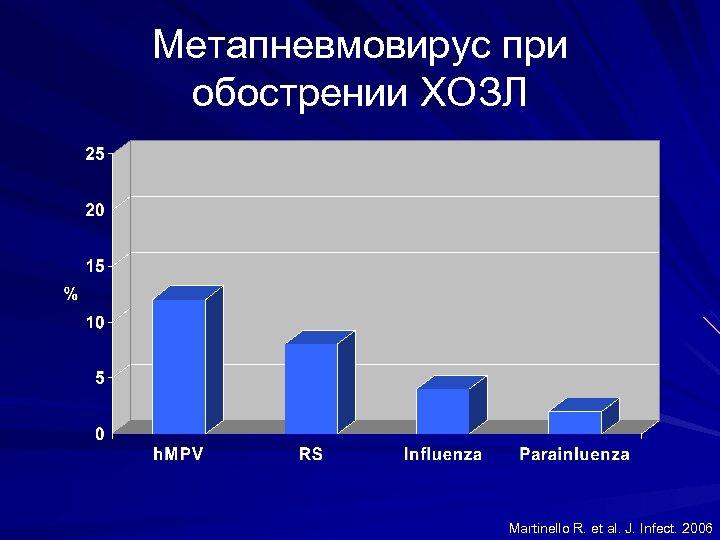 Метапневмовирус при обострении ХОЗЛ Martinello R. et al. J. Infect. 2006