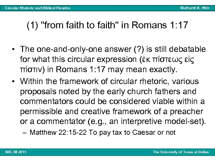 Richard K. Min Circular Rhetoric and Biblical Paradox (1)