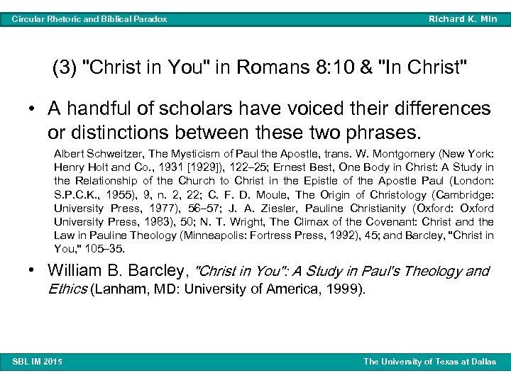 Richard K. Min Circular Rhetoric and Biblical Paradox (3)