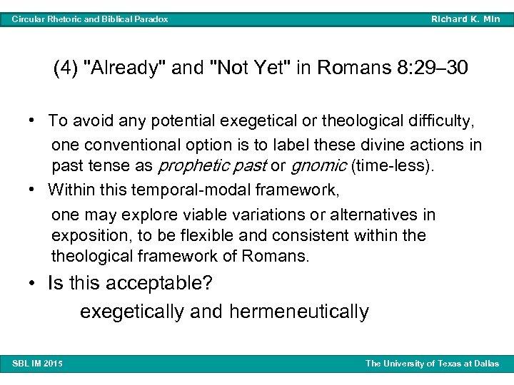 Richard K. Min Circular Rhetoric and Biblical Paradox (4)