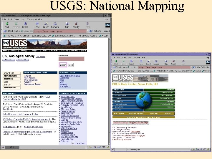 USGS: National Mapping