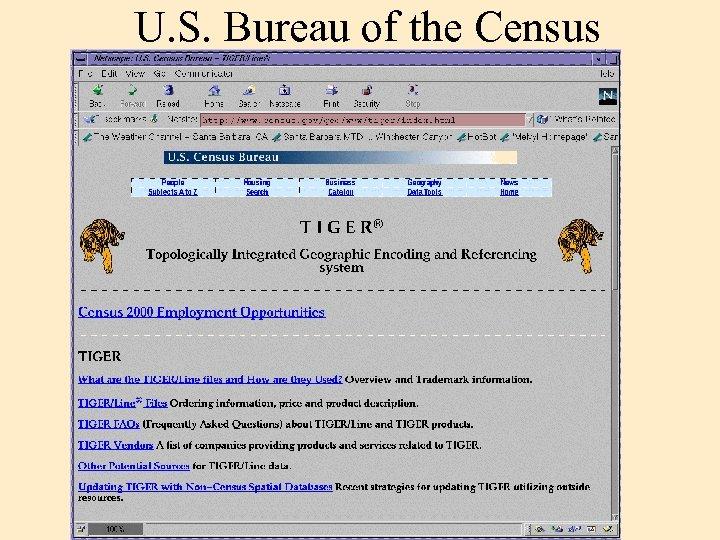 U. S. Bureau of the Census
