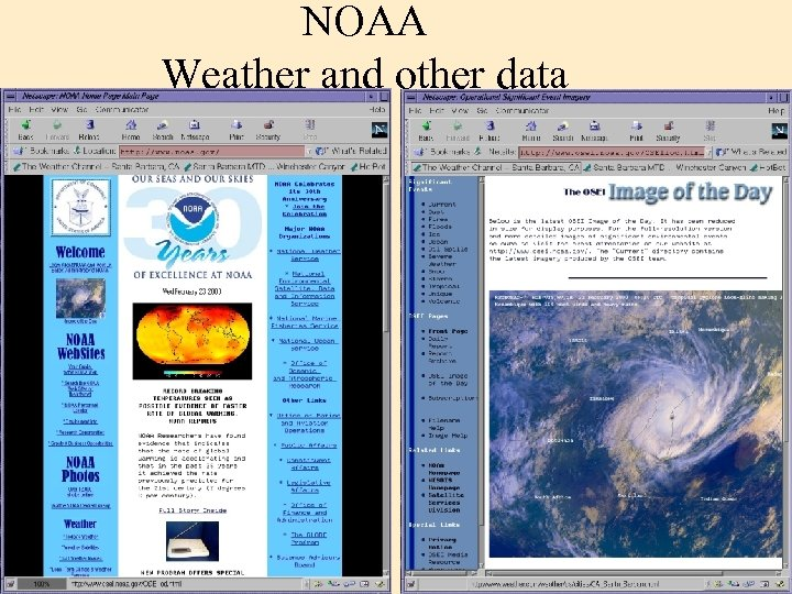 NOAA Weather and other data