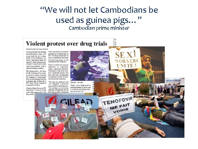 """We will not let Cambodians be used as guinea pigs…"" Cambodian prime minister"