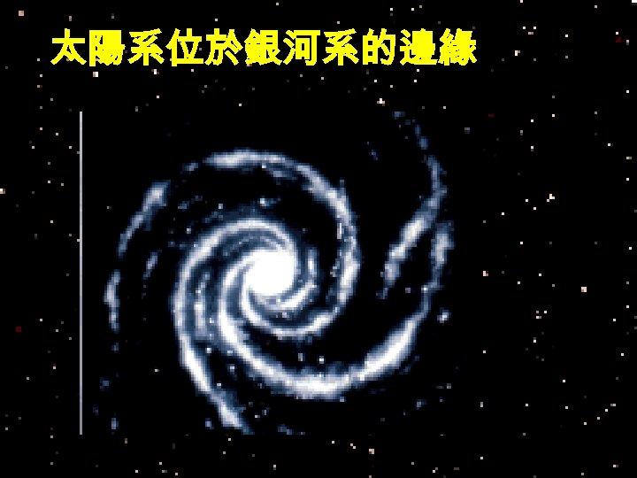 太陽系位於銀河系的邊緣