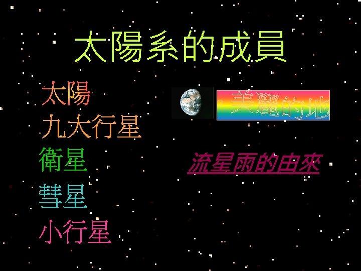 太陽系的成員 流星雨的由來