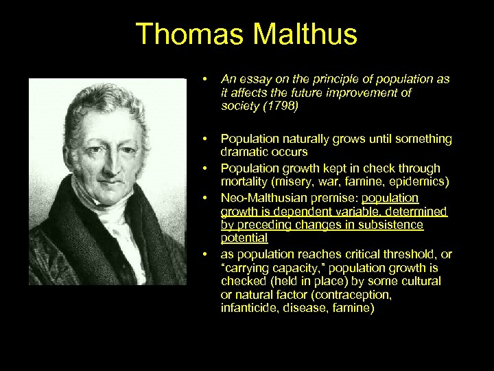 Thomas Malthus • An essay on the principle of population as it affects the