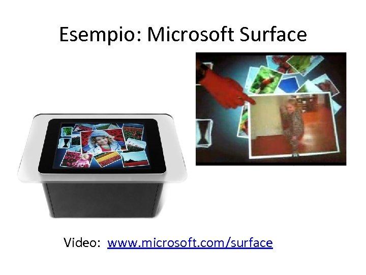 Esempio: Microsoft Surface Video: www. microsoft. com/surface