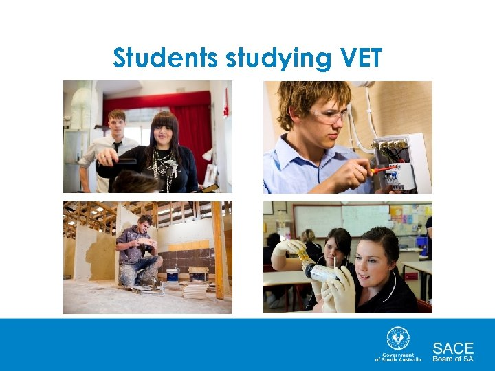 Students studying VET