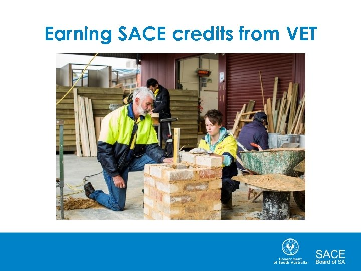 Earning SACE credits from VET