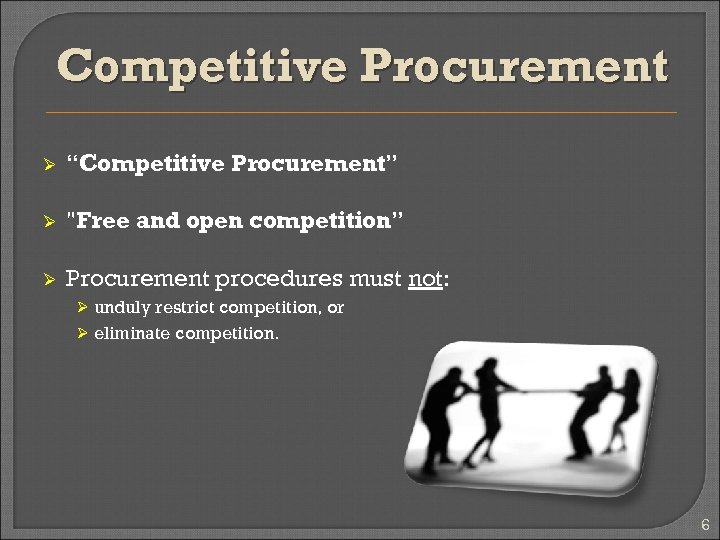 "Competitive Procurement Ø ""Competitive Procurement"" Ø"