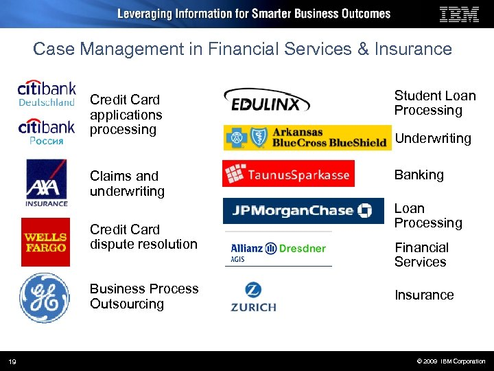 Case Management in Financial Services & Insurance Credit Card applications processing Student Loan Processing