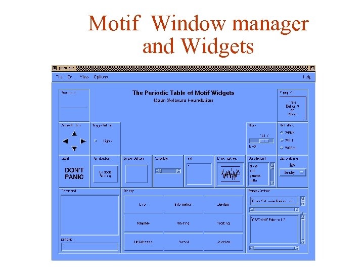 Motif Window manager and Widgets